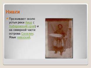 Нивхи Проживают около устья реки Амур (Хабаровский край) и на северной части