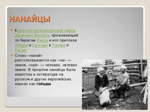 НАНАЙЦЫ Коренной малочисленный народ Дальнего Востока, проживающий по берегам