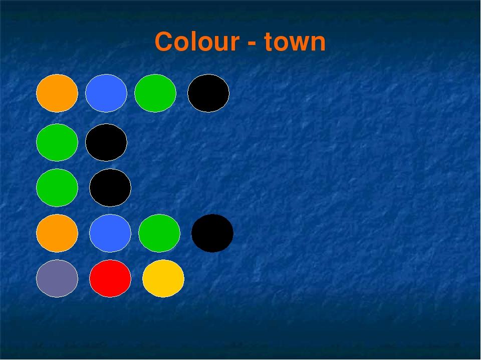 Colour - town