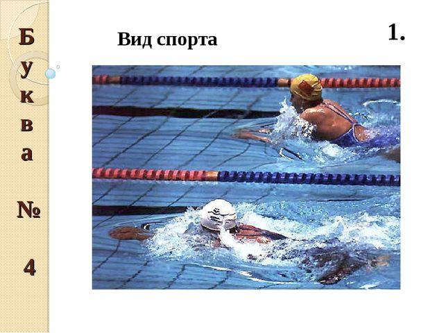 Буква № 4 1.  Вид спорта