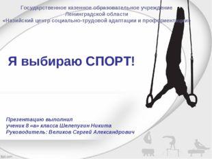 Я выбираю СПОРТ! Презентацию выполнил ученик 8 «а» класса Шелепугин Никита Ру