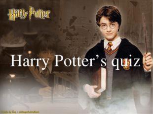 Harry Potter's quiz {