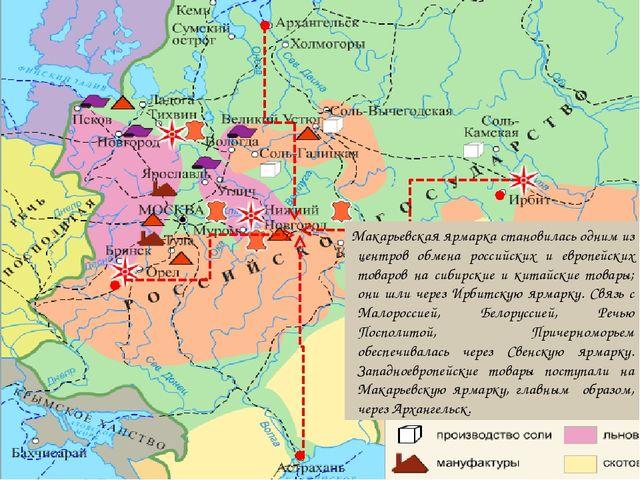 Макарьевская ярмарка становилась одним из центров обмена российских и европей...