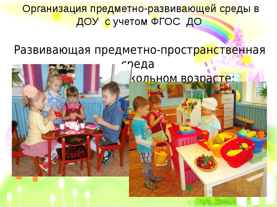 Организация предметно-развивающей среды в ДОУ с учетом ФГОС ДО Развивающая пр...