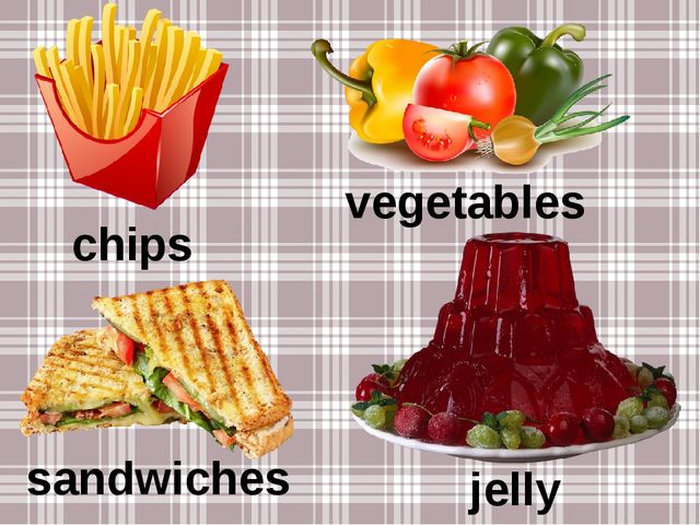 chips vegetables sandwiches jelly