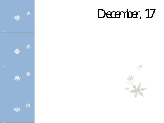 December, 17