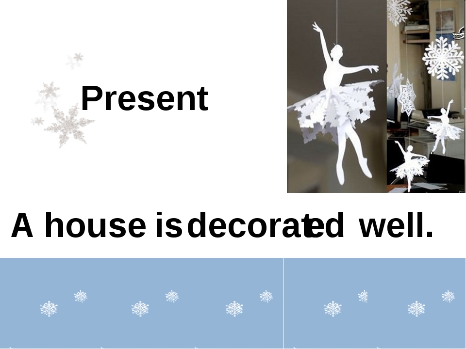 A house well. Present decorat is ed e
