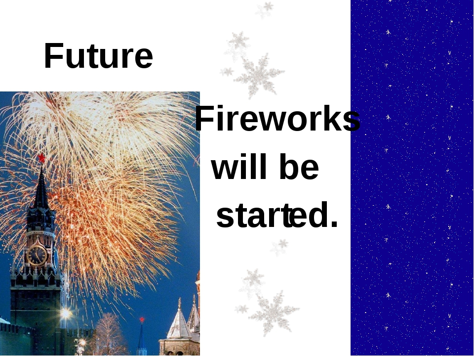 Future Fireworks start will be ed.