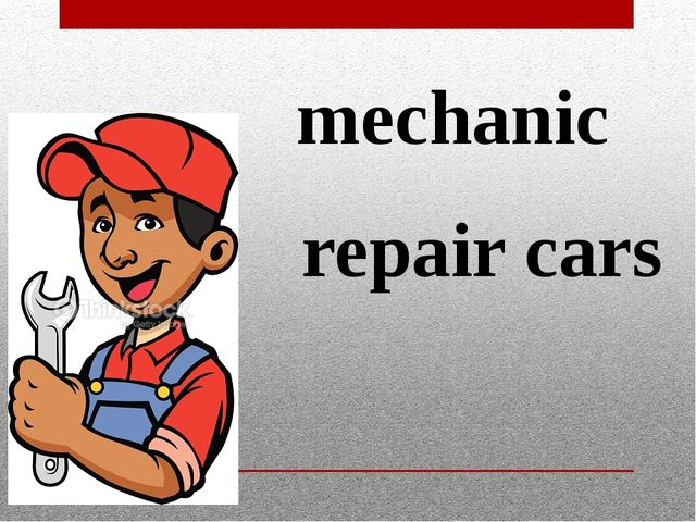mechanic repair cars