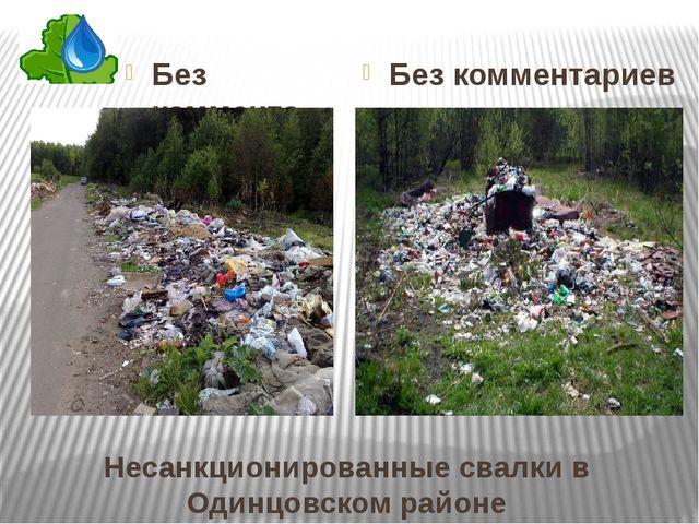 Несанкционированные свалки в Одинцовском районе Без комментариев Без коммента...