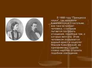 """В 1888 году """"Принцесса науки"""", так называли Ковалевскую в Стокгольме, все-та"""
