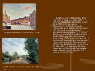 Ковалевская поселилась близ Парижа, в Севре, и поручила Миттаг Леффлеру прив