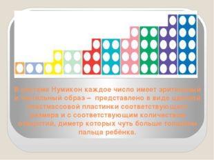 В системе Нумикон каждое число имеет зрительный и тактильный образ – представ