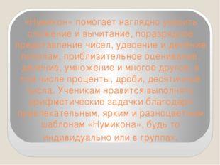«Нумикон» помогает наглядно усвоить сложение и вычитание, поразрядное предста