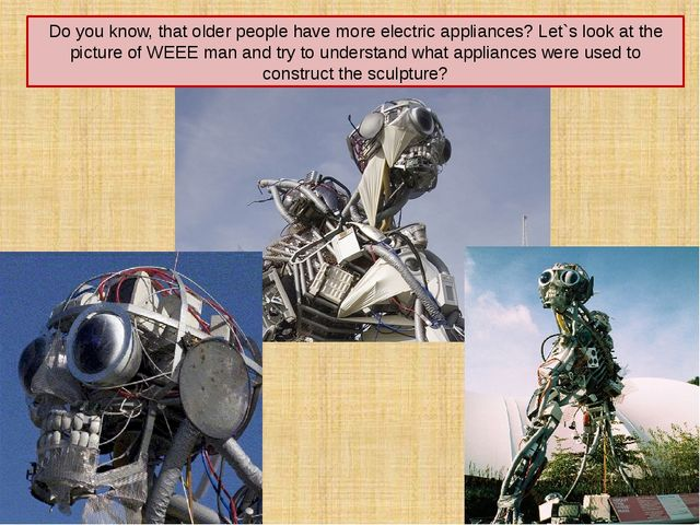 Do you know, that older people have more electric appliances? Let`s look at t...