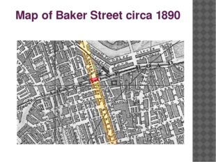 Map of Baker Street circa 1890