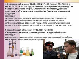 1. Федеральный закон от 22.11.1995 N 171-ФЗ (ред. от 29.12.2015, с изм. от 30