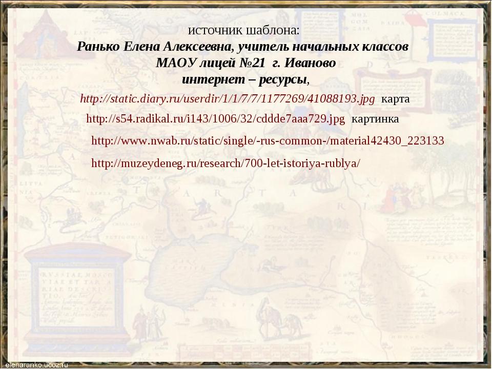источник шаблона: Ранько Елена Алексеевна, учитель начальных классов МАОУ лиц...