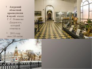 Амурский областной краеведческий музей имени Г.С.Новикова-Даурского, котор