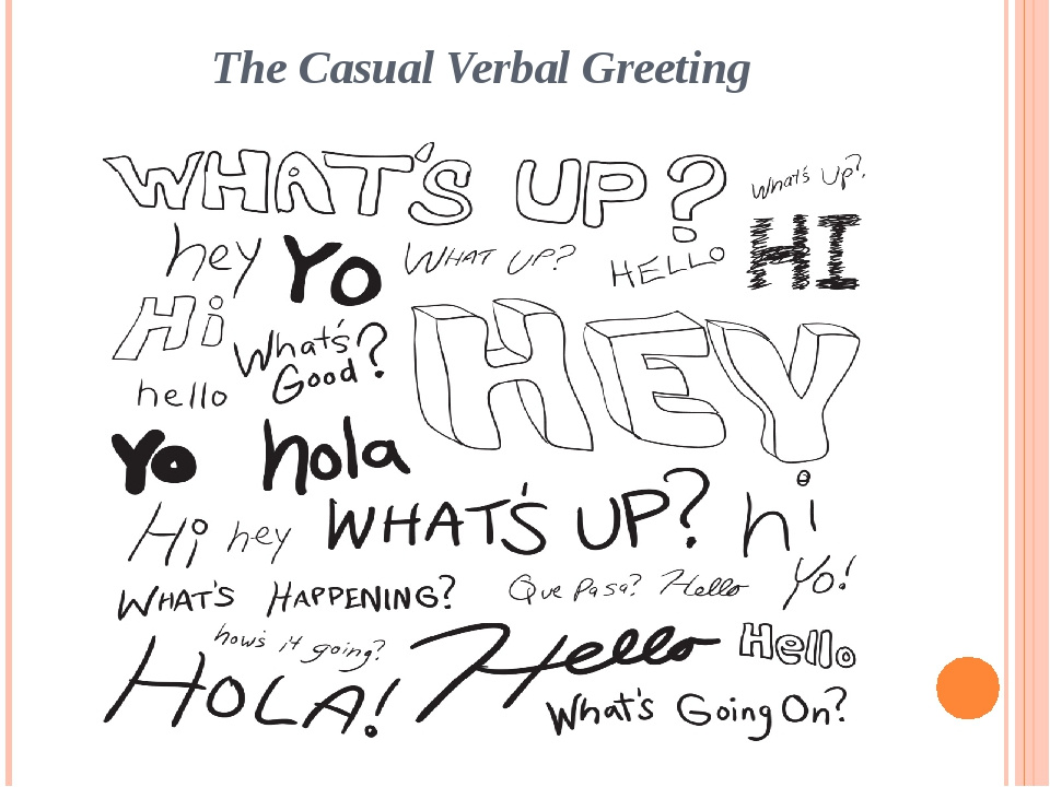 The Casual Verbal Greeting