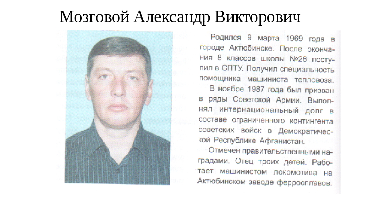 Мозговой Александр Викторович