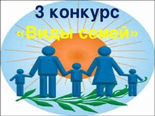 3 конкурс «Виды семей»