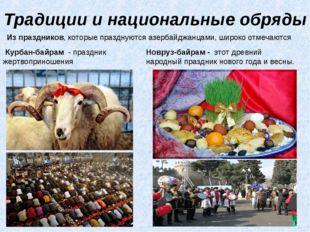 Традиции и национальные обряды Из праздников, которые празднуются азербайджан