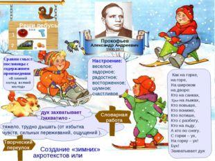 Прокофьев Александр Андреевич Как на горке, на горе, На широком на дворе: