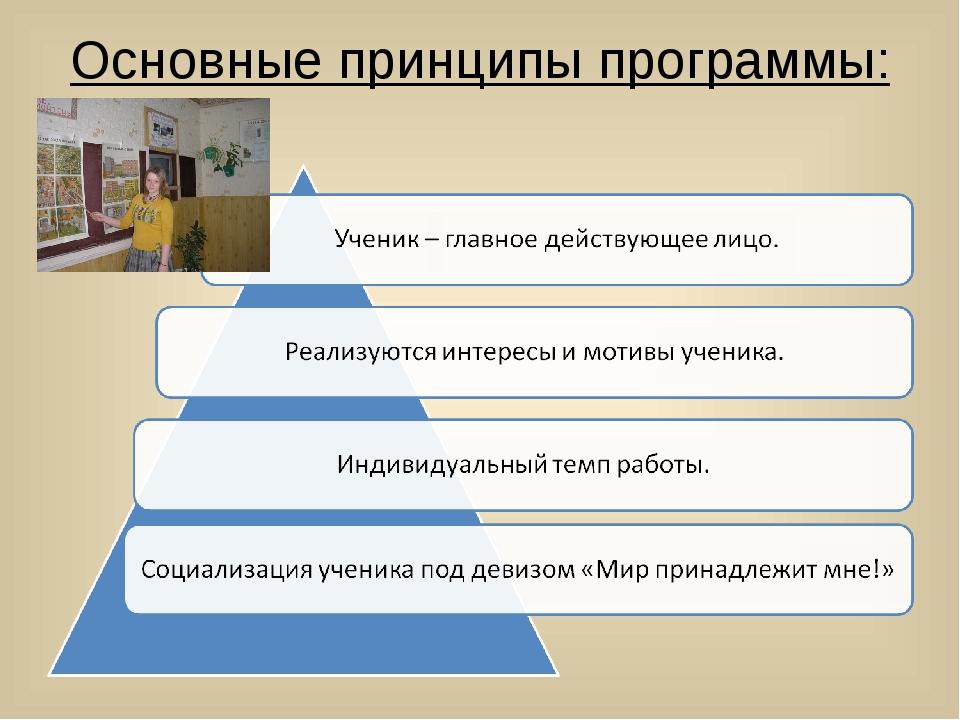 Основные принципы программы: