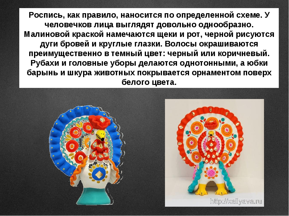 Роспись, как правило, наносится по определенной схеме. У человечков лица выгл...