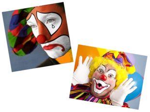 …профессии клоуна. Клоуны бывают разные: веселые и грустные.