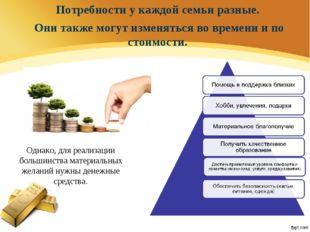 Однако, для реализации большинства материальных желаний нужны денежные средст