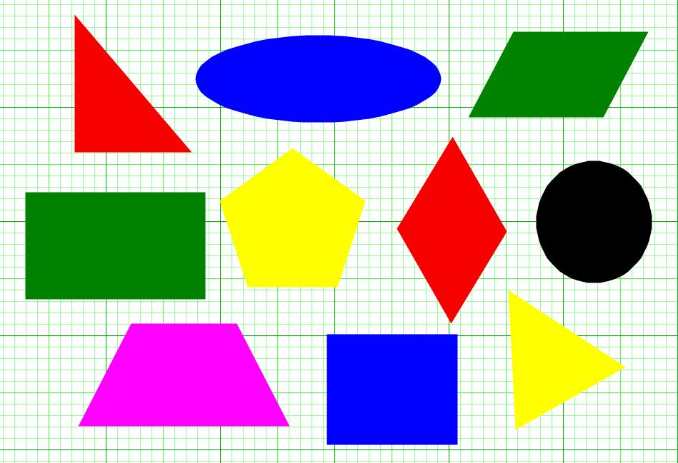 Геометрические фигуры в картинках