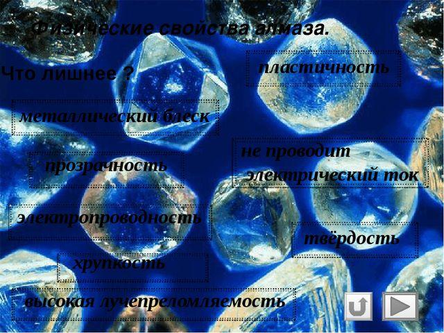 Физические свойства алмаза и графита. Алмаз с древн. – греч. ἀδάμας— «несокр...