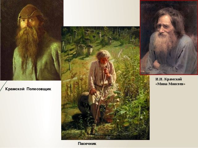 Крамской Полесовщик Пасечник И.Н. Крамской «Мина Моисеев»