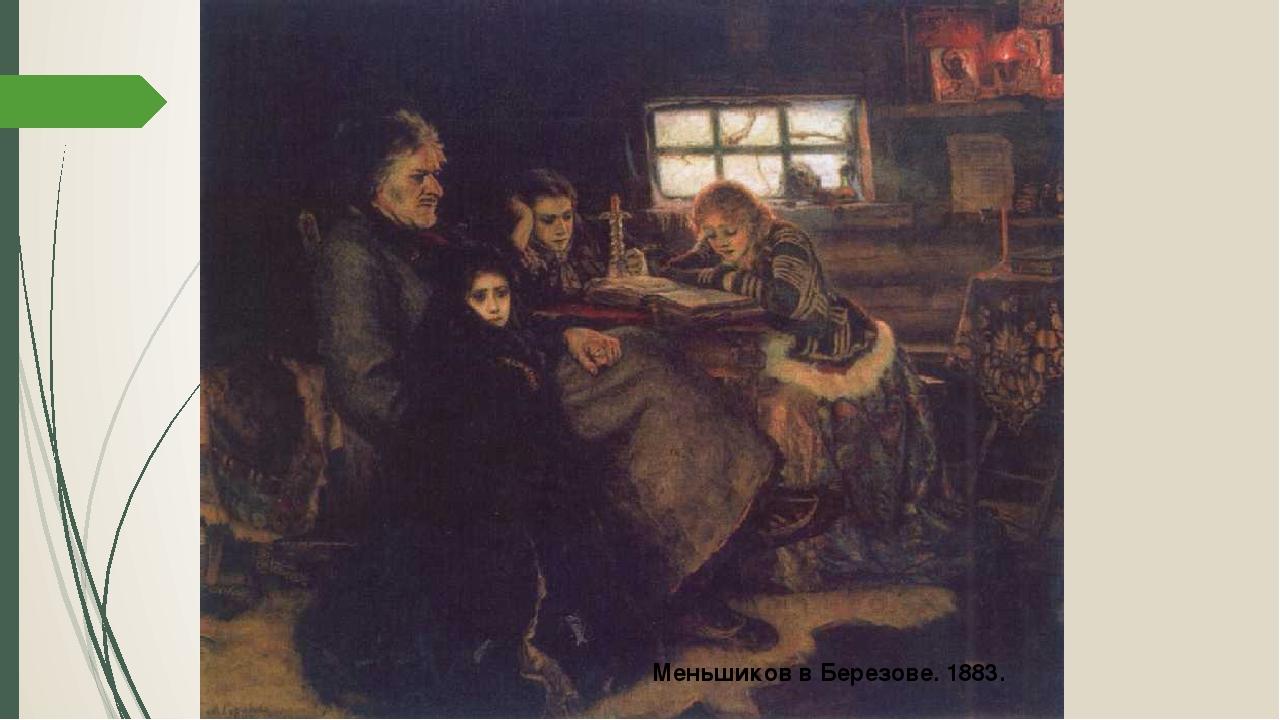 Меньшиков в Березове. 1883.