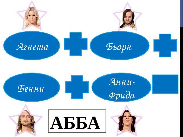 АББА Агнета Бьорн Бенни Анни- Фрида