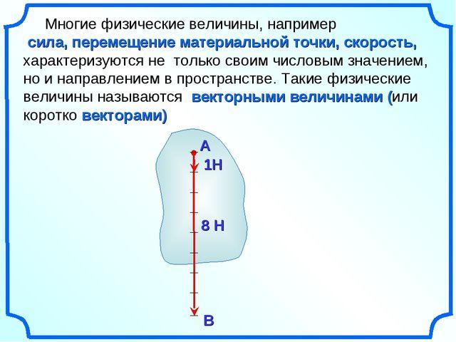 Многие физические величины, например сила, перемещение материальной точки, с...