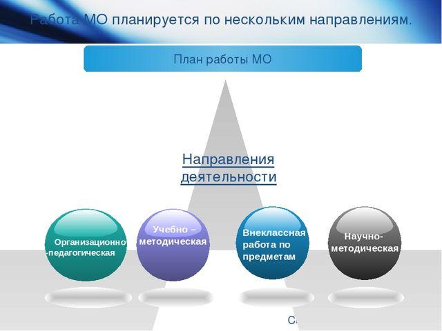 www.themegallery.com Company Logo Работа МО планируется по нескольким направл...