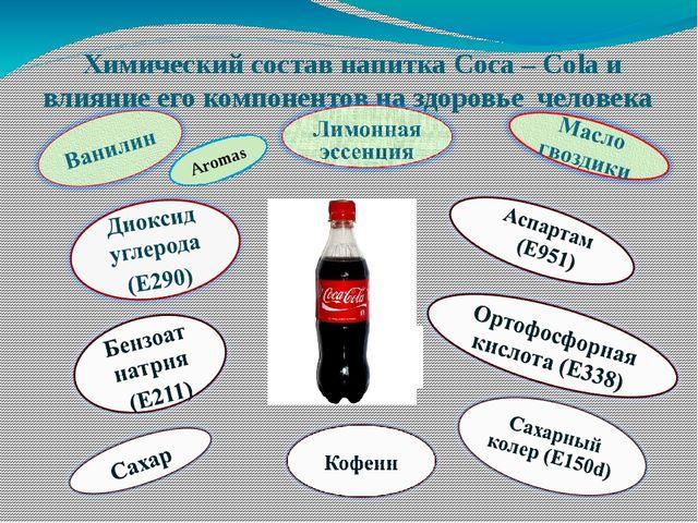 Химический состав напитка Coca – Cola и влияние его компонентов на здоровье ч...