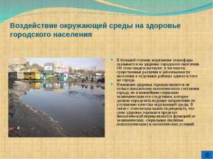 Воздействие окружающей среды на здоровье городского населения В большой степе