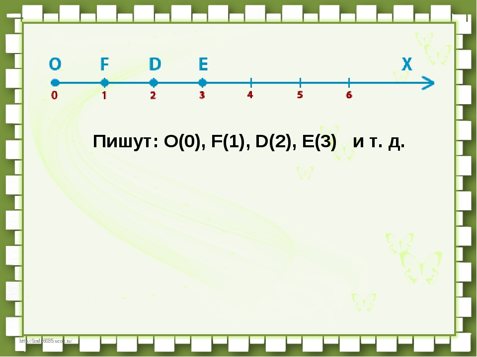 Пишут:О(0), F(1), D(2), E(3) и т. д. http://linda6035.ucoz.ru/