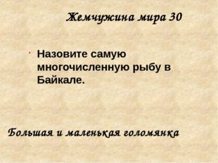 Жемчужина мира 50 Назовите самые древние организмы Байкала. Губки