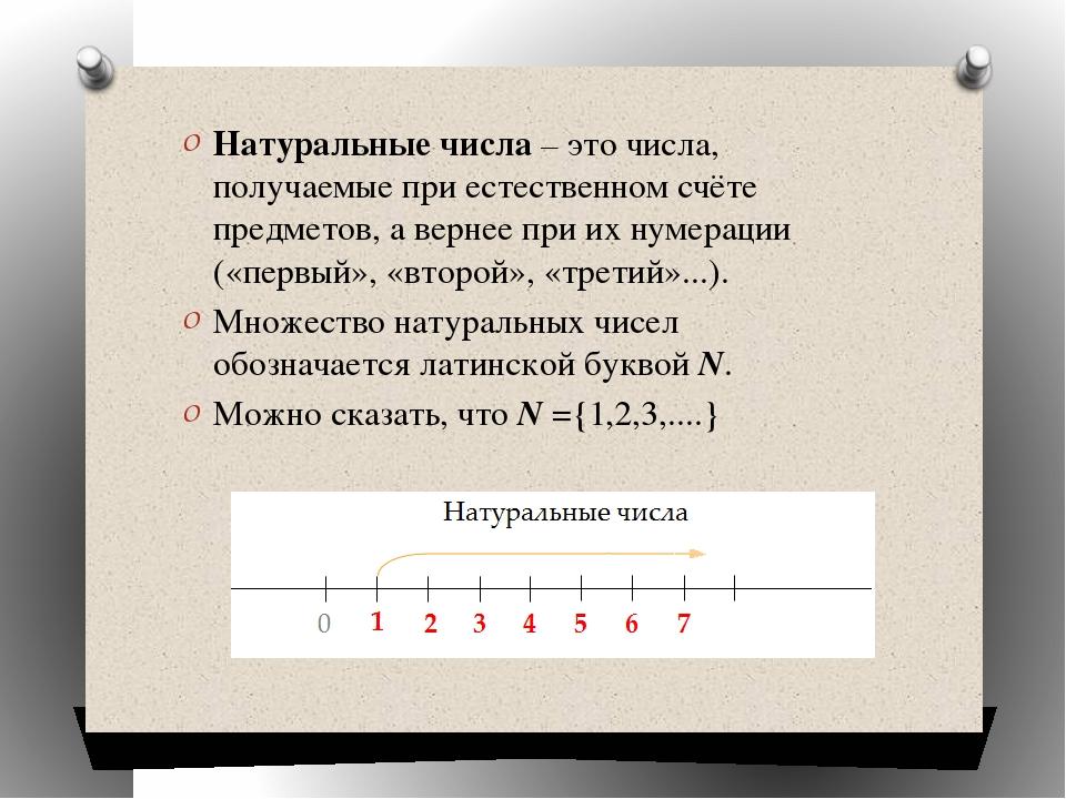 Натуральные числа– это числа, получаемые при естественном счёте предметов, а...