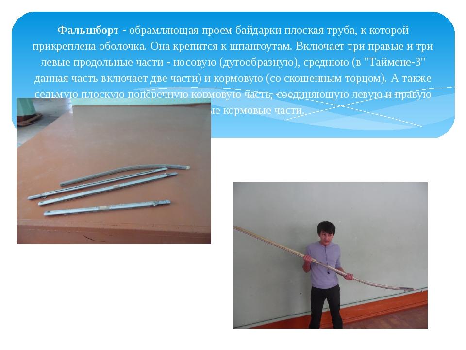 Фальшборт- обрамляющая проем байдарки плоская труба, к которой прикреплена о...