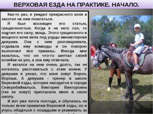 Как-то раз, я увидел прекрасного коня и захотел на нем покататься. Я был восх