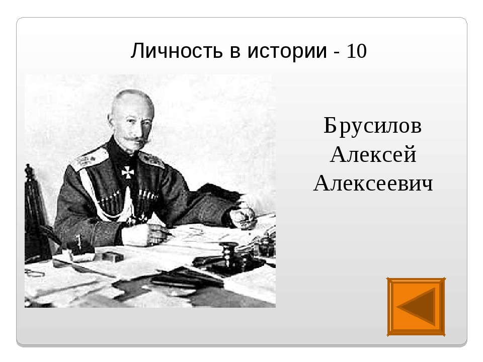 Личность в истории - 10 Брусилов Алексей Алексеевич