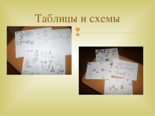 Таблицы и схемы 