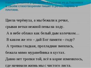 Нэлли Гришина (Луковникова)родом из д.Ларневск в своём стихотворении пишет о