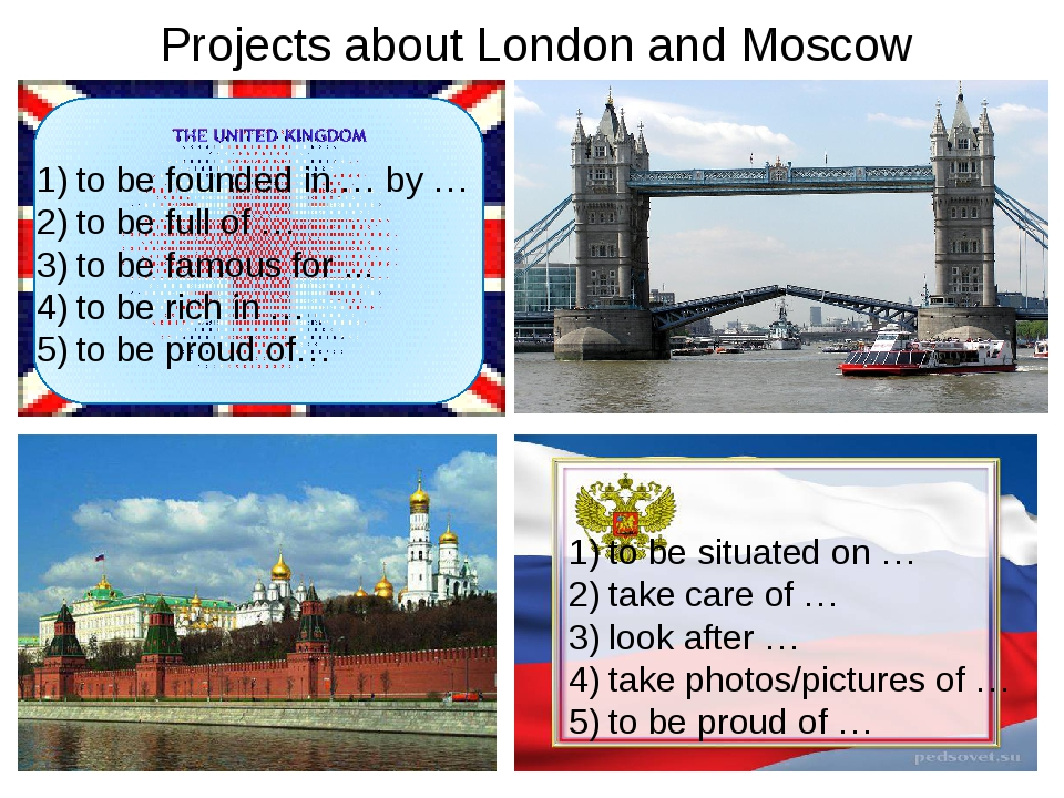 Projects about London and Moscow to be founded in … by … to be full of … to b...